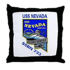 USS Nevada SSBN 733 Throw Pillow