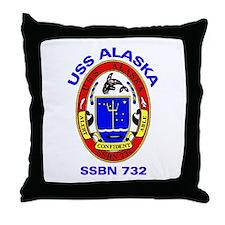 USS Alaska SSBN 732 Throw Pillow