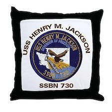 USS Henry M Jackson SSBN 730 Throw Pillow