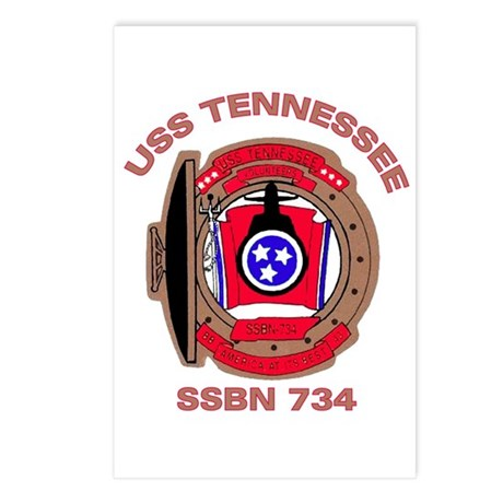 USS Tennessee SSBN 734 Postcards (Package of 8)