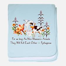 Pythagoras Vegetarian Quote baby blanket