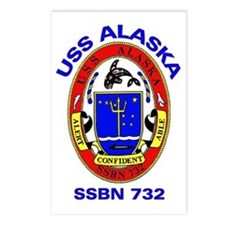 USS Alaska SSBN 732 Postcards (Package of 8)
