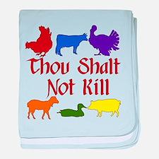 Thou Shalt Not Kill baby blanket