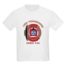 USS Tennessee SSBN 734 Kids T-Shirt