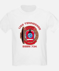 USS Tennessee SSBN 734 Kids T-Shirt