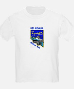 USS Nevada SSBN 733 Kids T-Shirt