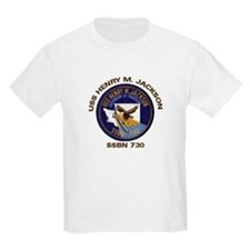 USS Henry M Jackson SSBN 730 Kids T-Shirt