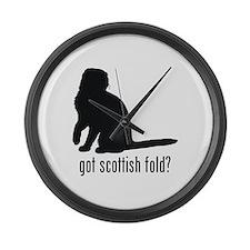 Scottish Fold Large Wall Clock
