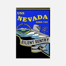 USS Nevada SSBN 733 Rectangle Magnet