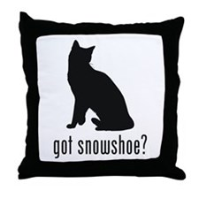 Snowshoe Throw Pillow