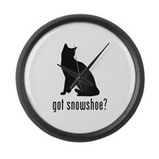 Snowshoe Large Wall Clock