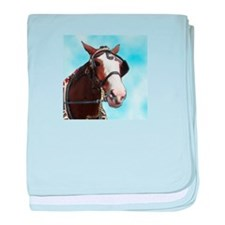 Clydesdale Horse Infant Blanket