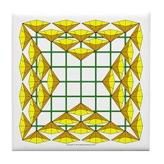 Eclectic Flower 120 Tile Coaster