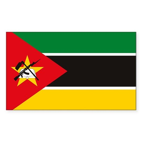 Mozambique Flag Rectangle Decal By Flagsandcoats