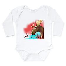 Alaskan Moose Long Sleeve Infant Bodysuit