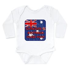 Australia Loves YOU! Long Sleeve Infant Bodysuit
