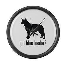 Blue Heeler Large Wall Clock