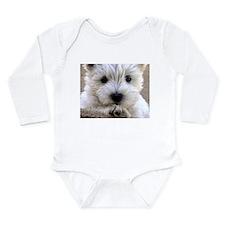 West Highland White Terrier Long Sleeve Infant Bod