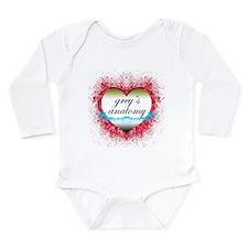 Heart Grey's Anatomy Long Sleeve Infant Bodysuit
