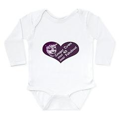 Over 40, Over Fabulous Long Sleeve Infant Bodysuit
