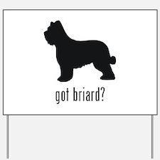 Briard Yard Sign