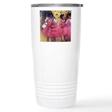 Degas Ballerinas in Red Stainless Steel Travel Mug