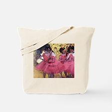 Degas Ballerinas in Red Tote Bag
