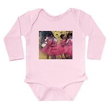 Degas Ballerinas in Red Long Sleeve Infant Bodysui