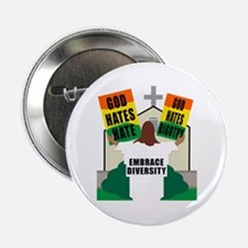 GOD HATES HATE Button