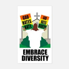 GOD HATES HATE Rectangle Decal