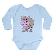 Bert the Hippo Long Sleeve Infant Bodysuit