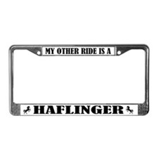 My Other Ride Is A Haflinger License Plate Frame