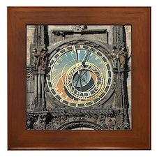 Astronomical Clock Framed Tile