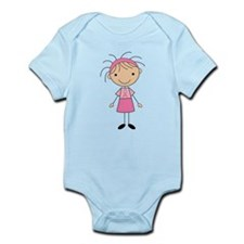 Cute Stick Girl Breast Cancer Infant Bodysuit