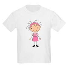 Cute Stick Girl Breast Cancer T-Shirt