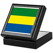 Gabon Flag Keepsake Box