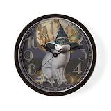 Witch cat Wall Clocks