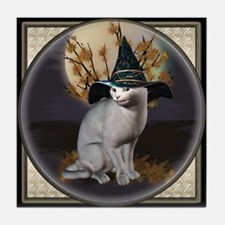 Witches Cat Tile Coaster