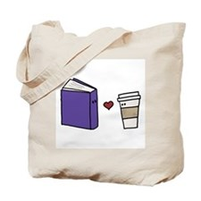 Book Loves Coffee Tote Bag