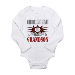 Radically Awesome Grandson Long Sleeve Infant Body