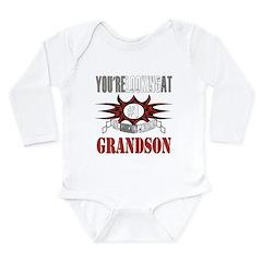Radically Awesome Grandson Long Sleeve Infant Body