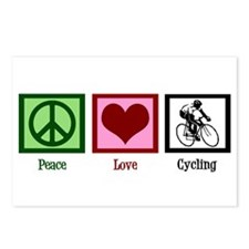 Peace Love Cycling Postcards (Package of 8)