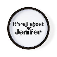 It's all about Jenifer Wall Clock