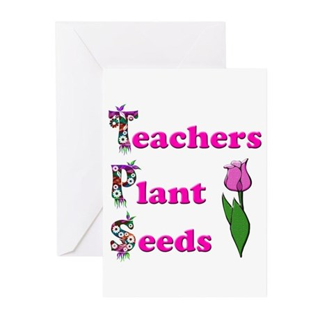 Teachers plant seeds pink Greeting Cards