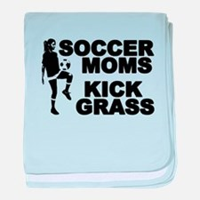 Soccer Moms Kick Grass Infant Blanket