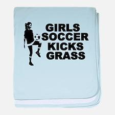 Girls Soccer Kicks Infant Blanket