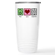 Peace Love Crosswords Travel Mug
