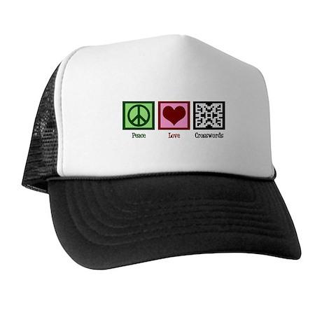 Peace Love Crosswords Trucker Hat