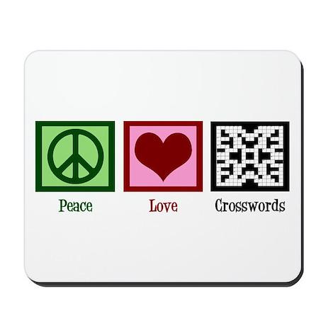 Peace Love Crosswords Mousepad