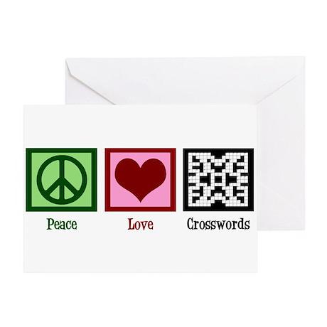 Peace Love Crosswords Greeting Card